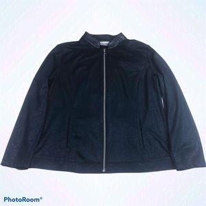 Chico's Navy Blue Glitter Jacket Full Zip Light